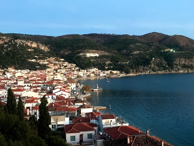 The beautiful town of Lymni on evia island
