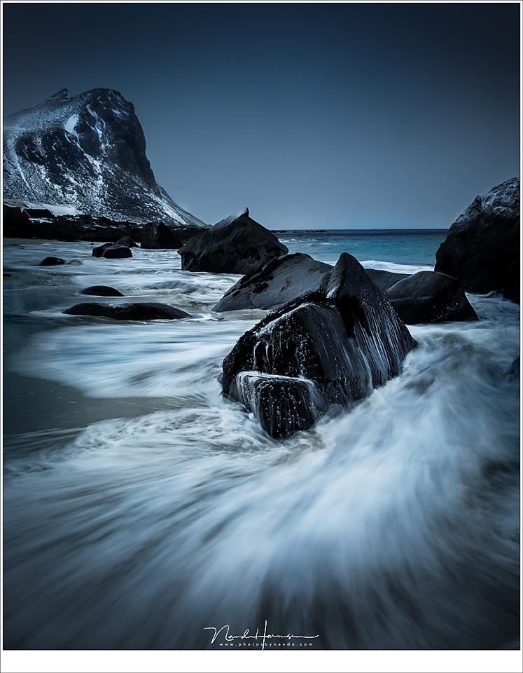 Branding op het strand van Myrland (31mm | ISO50 | f/16 | t=1/4sec)
