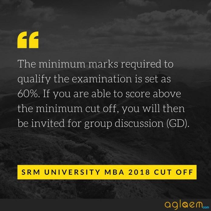 SRM University MBA Admissions 2018 Cut off