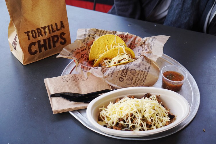 Gluten free burrito bowl, tacos and tortilla chips from Chipotle | Gluten free Islington guide | North London