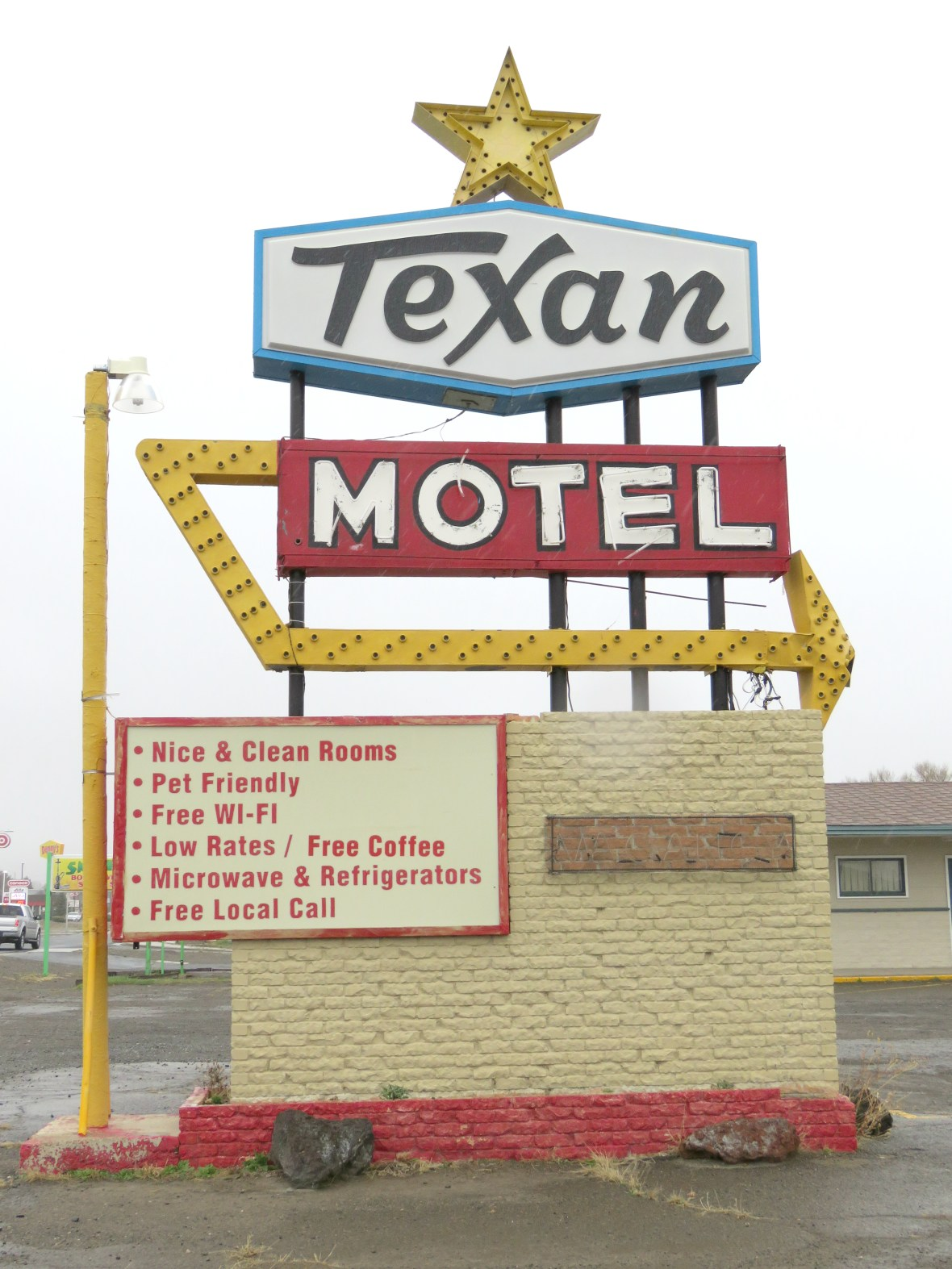 Texan Motel - 201 Clayton Road, Raton, New Mexico U.S.A. - April 18, 2016