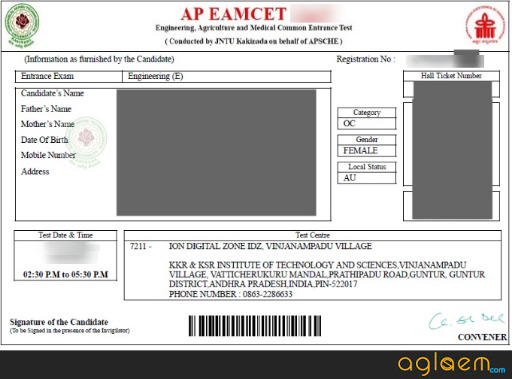 AP EAMCET 2019 Admit Card