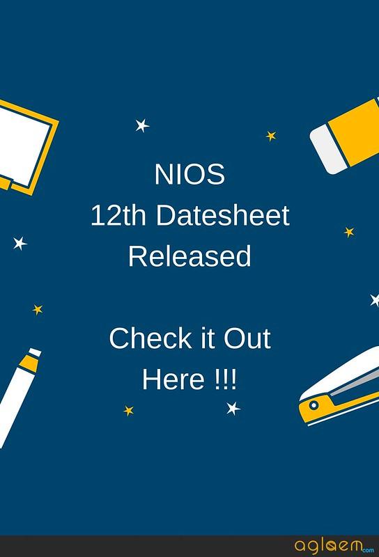 NIOS 12th Date sheet April 2018