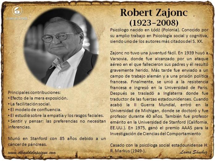 El Baúl de los Autores: Robert Zajonc