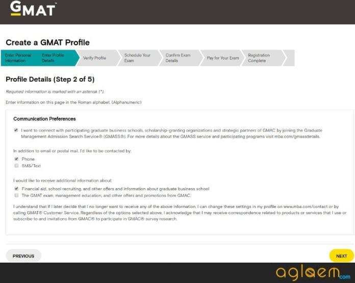 GMAT Registration 2018