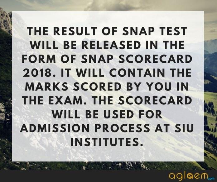 SNAP Result 2018