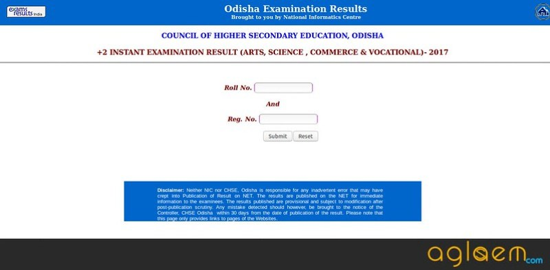 CHSE Odhisa Result for 12th class