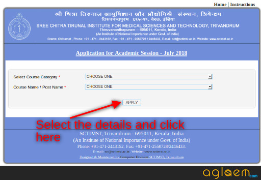 SCTIMST 2018 Application Form