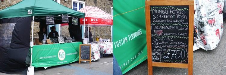 Kally Cooks market stall | gluten free Broadway Market guide | Hackney | East London