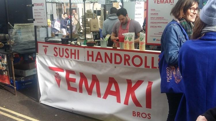 Temaki Bros market stall | gluten free Broadway Market guide | Hackney | East London
