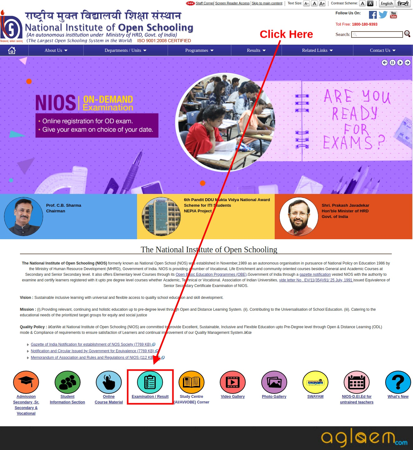 NIOS 10th Result April 2020