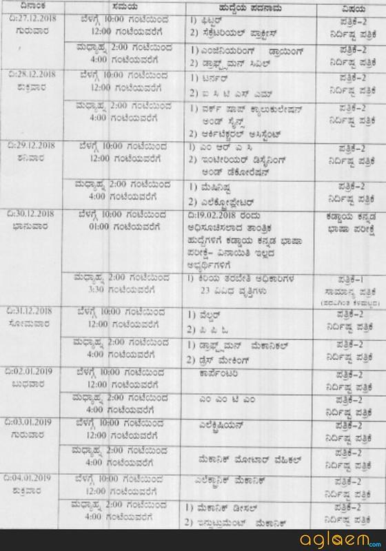Examination Schedule