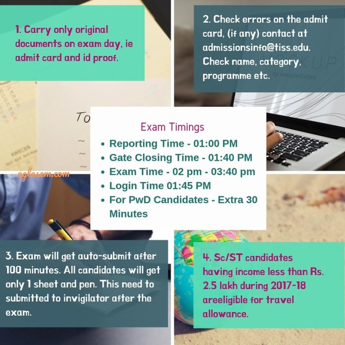 Important Instruction for TISS 2019 Exam Day