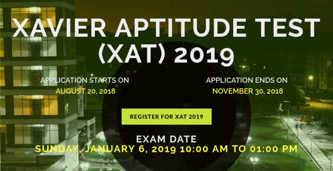 XAT 2019 Registration Closes On 30 November