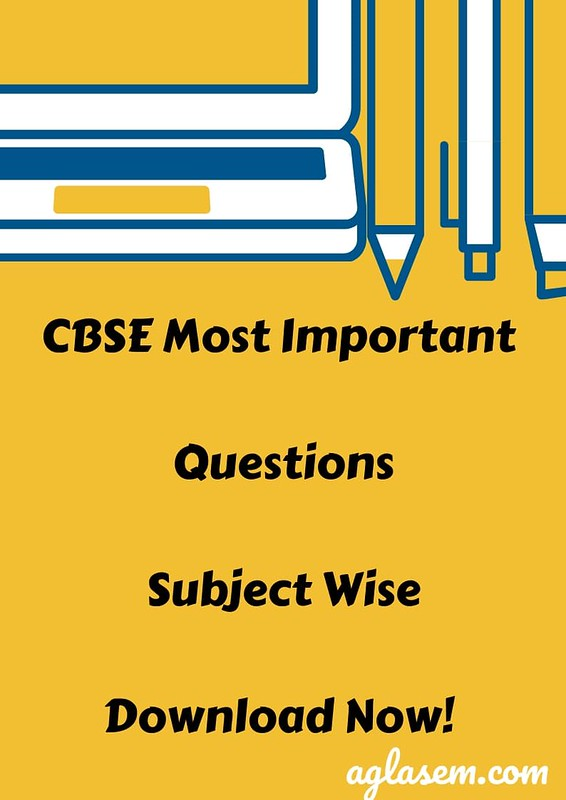 CBSE Class 10 Most Important Questions With Answers