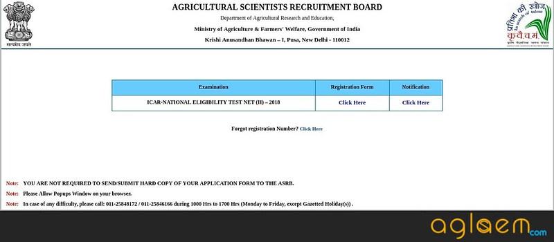 ICAR NET 2 Application Form 2018