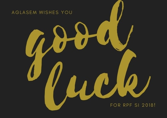RPF SI Admit Card 2018: Aglasem wishes you good luck for RPF SI 2018
