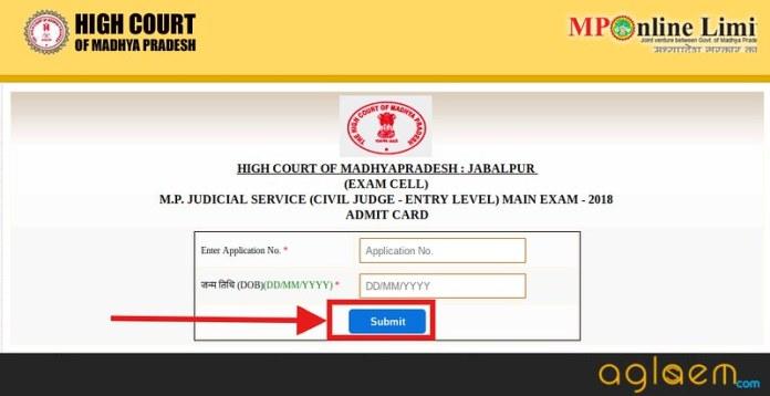 MP Civil Judge Admit Card