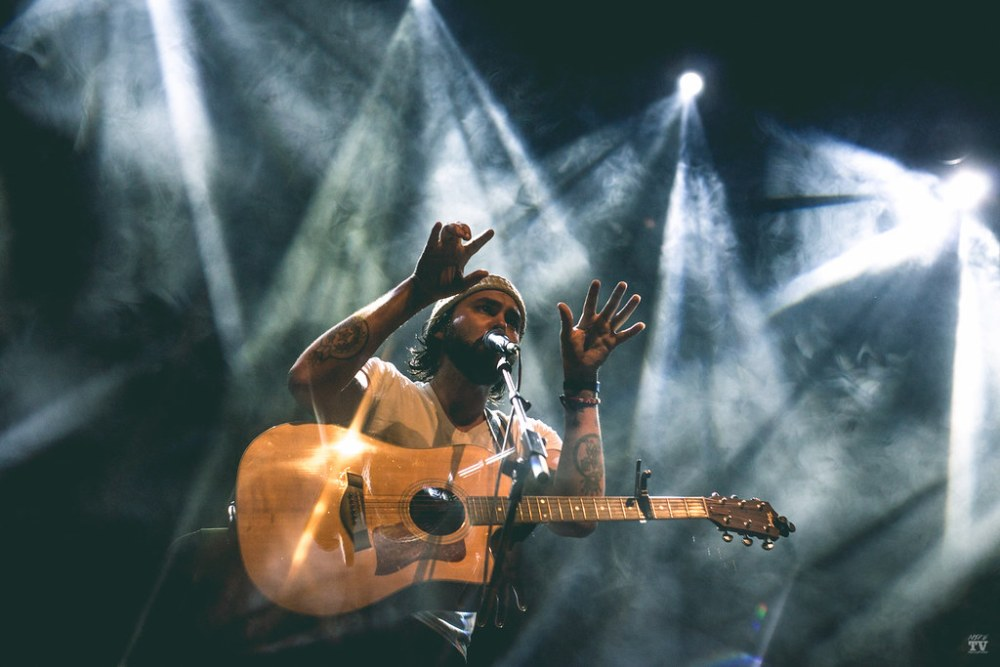 American Americana musician Shakey Graves performing at Vicar Street in Dublin, Ireland, on November 16th, 2018
