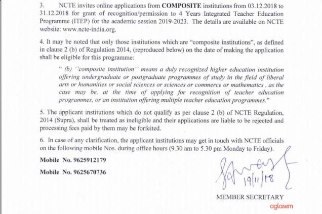 ITEP Registration