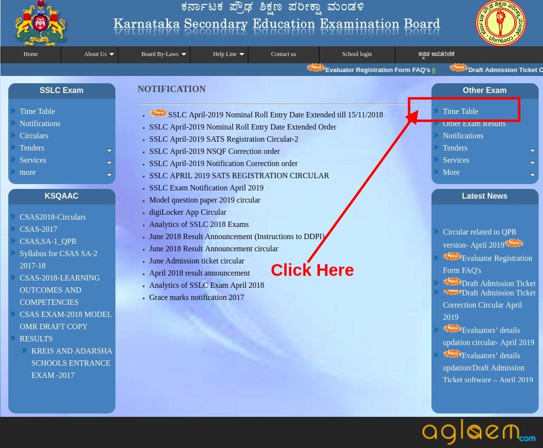 Karnataka Open SSLC Time Table 2019
