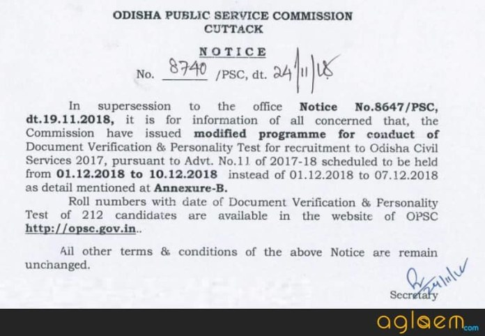 Odisha Civil Services Examination 2018