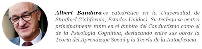 Albert Bandura. Ejemplo de autor. Colabora