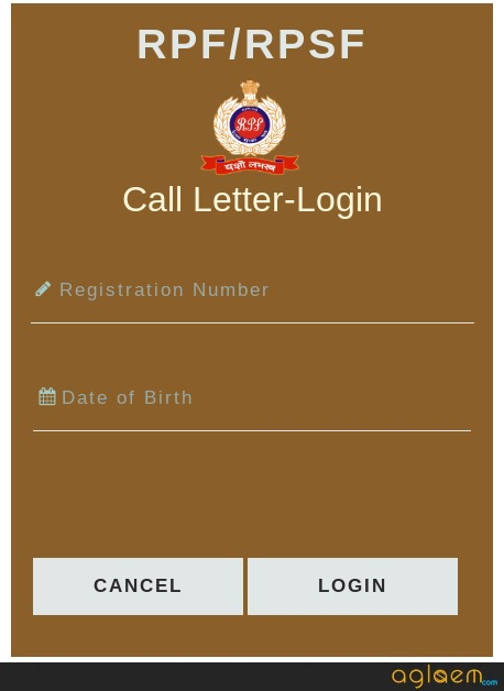 RPF Constable Login