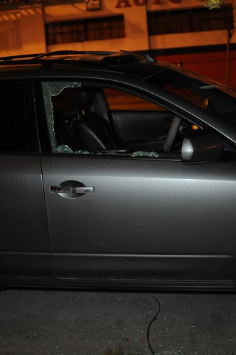 Car Break In | This is my poor window after they smashed ...