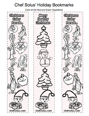 Holiday Bookmarks For Kids Free Coloring Pages Printouts