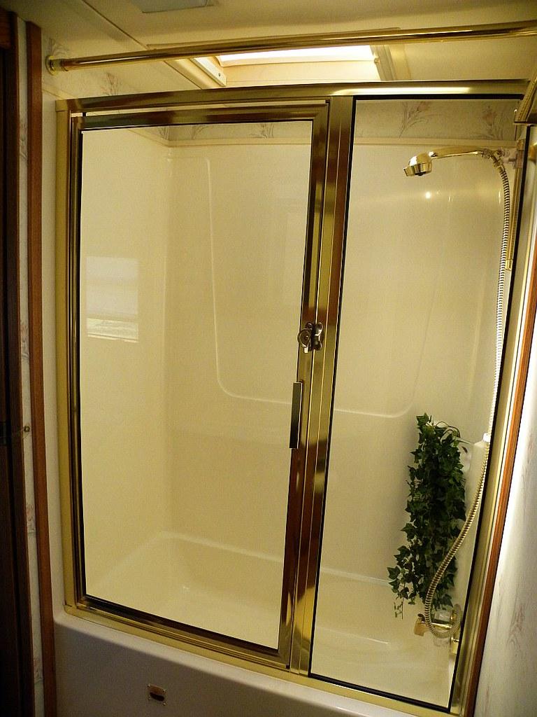 Fiberglass One Piece Tub Shower Glass Door Judy Rick
