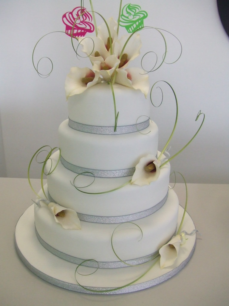 CAKE   Calla lily wedding cake   by jules   Jules enquiries         CAKE   Calla lily wedding cake   by CAKE Chester