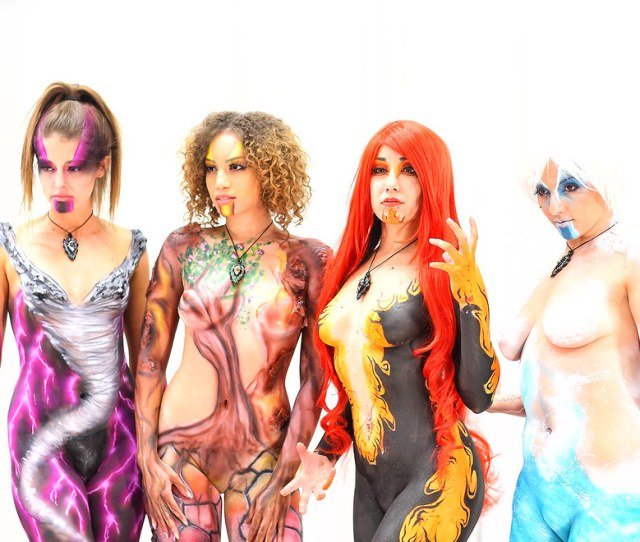 Body Paint Models Alexandria Pierce And Rosanna Rocha  Phoenix Comicon Pcc By
