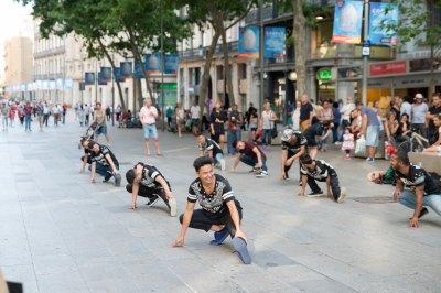 Barcelona Spain street dancing