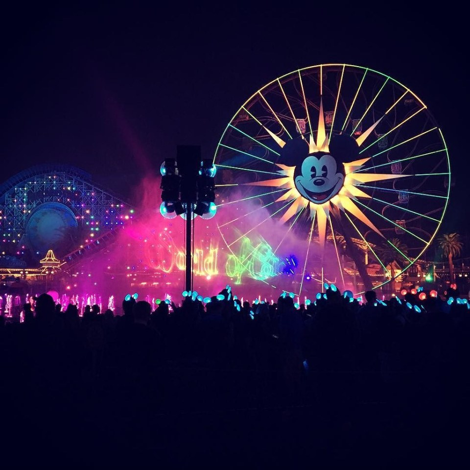 Beautiful way to end the night! #Disney #worldofcolor