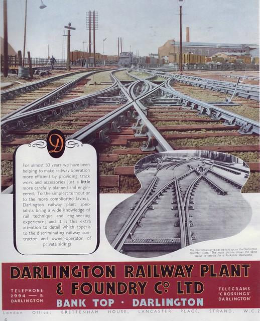 Darlington Railway Plant & Foundary 1949