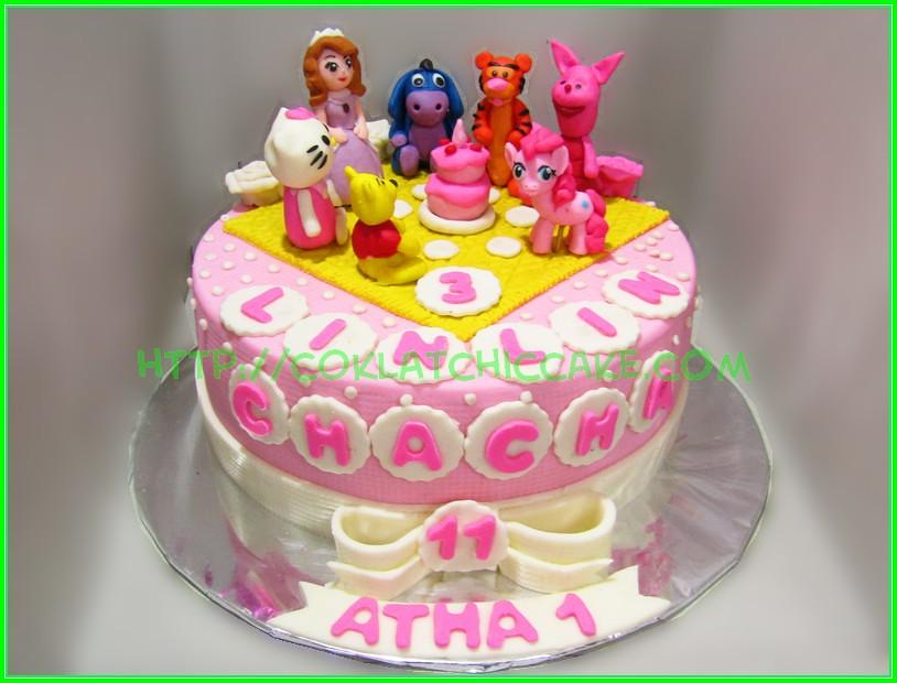 Cake Mix Character Lin Lin Chacha Atha Coklatchic Cake