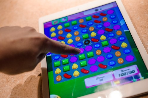 Image result for Playing Candy Crush on an iPad