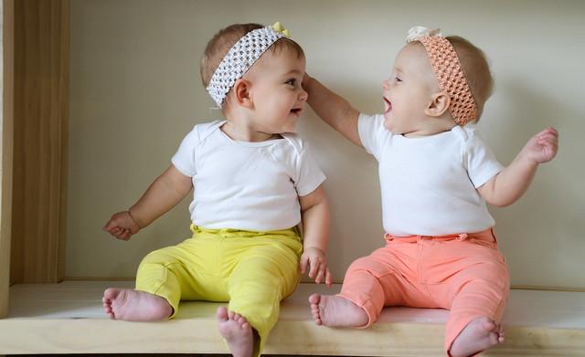 Happy Twin Girls