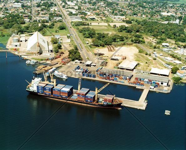 3 grupos entregam propostas no leilão de duas áreas do porto de Santarém, Porto de Santarém, PA.