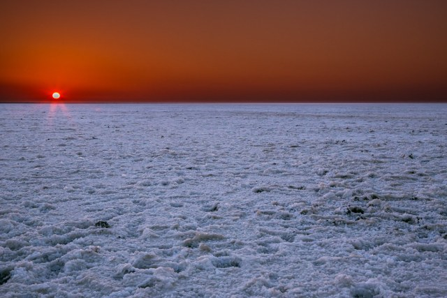 Sunset at White Rann of Kutch , Gujarat, India   by dpbirds- Most surreal places to visit