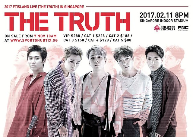 FTISLAND Live [THE TRUTH] in Singapore 2017