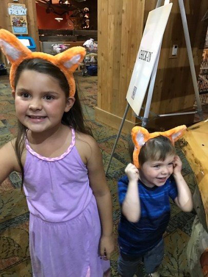 We're at Great Wolf Lodge, surprise!