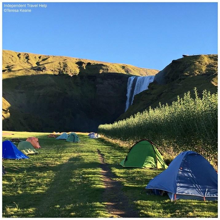 Skogarfoss campsite