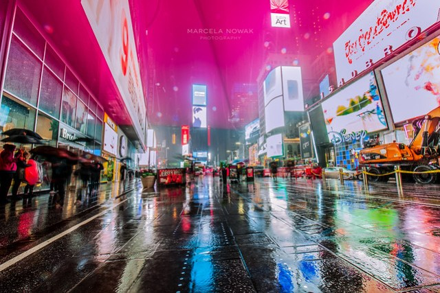 Times Square in the rain - New York City