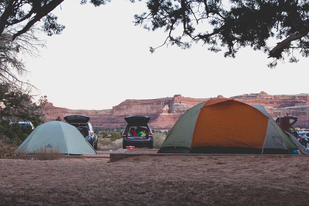 Fall camping in Canyonlands