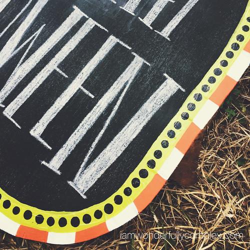 Halloween Chalkboard Countdown
