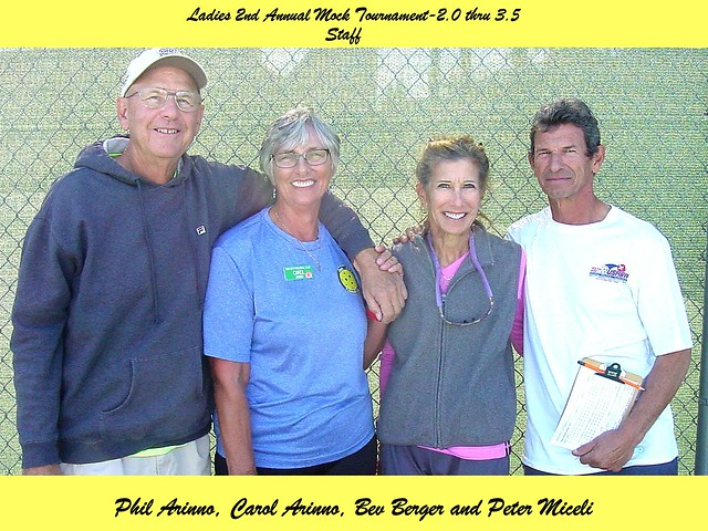 Ladies 2nd Annual Mock Tournament-2.0 thru 3.5