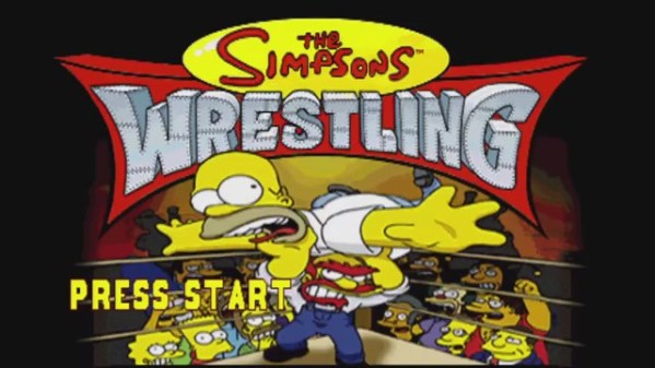 Simpsons Wrestling Title Screen