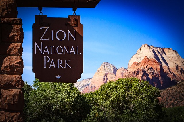 Zion National Park, UT-Entrance Sign